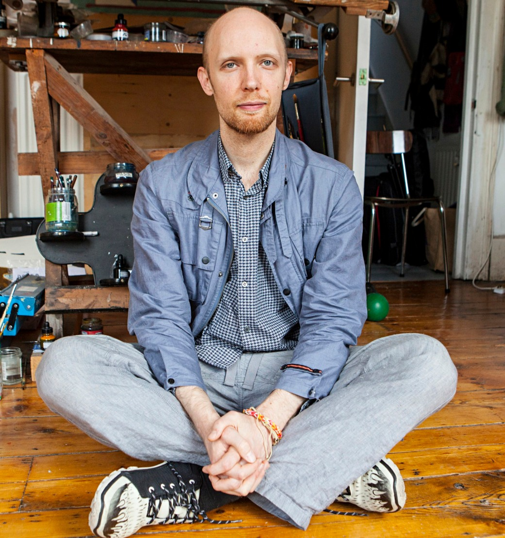 Illustrator Alexis Deacon at his home?cum-studio in south London.